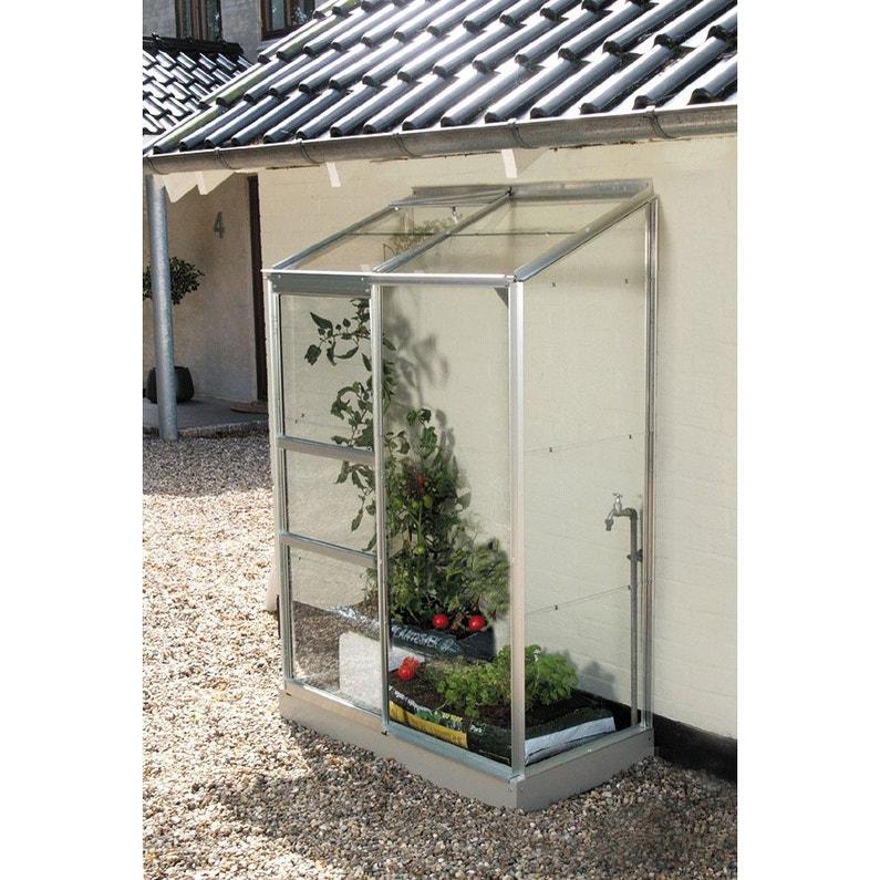 Serre de jardin en verre horticole Ida, 0.911 m²