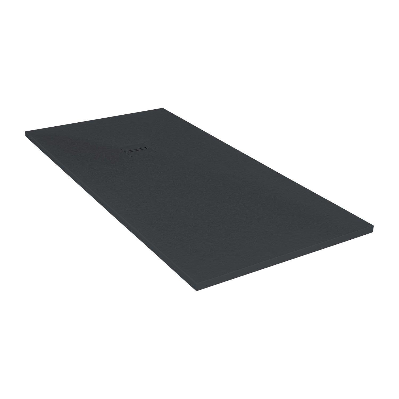 receveur de douche extraplat rectangulaire x cm r sine noir leroy merlin. Black Bedroom Furniture Sets. Home Design Ideas