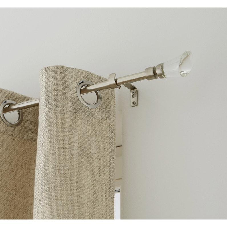 kit de tringle rideau extensible pure diam 16 19 mm acier bross 120 210 cm leroy merlin. Black Bedroom Furniture Sets. Home Design Ideas