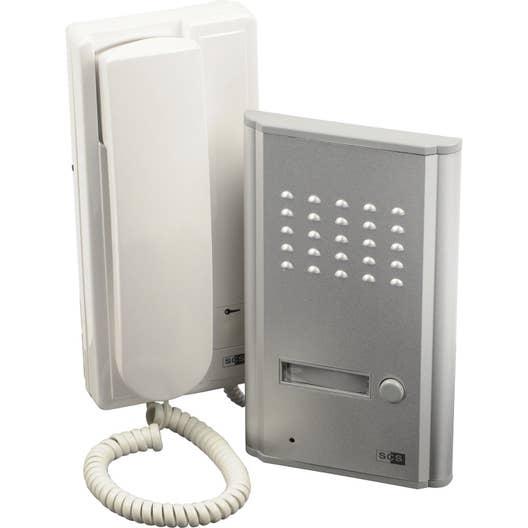interphone filaire scs sentinel 3208d leroy merlin. Black Bedroom Furniture Sets. Home Design Ideas