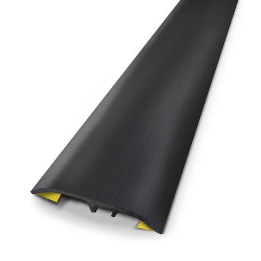 barre de seuil aluminium anodis noir x l 3 7 cm leroy merlin. Black Bedroom Furniture Sets. Home Design Ideas