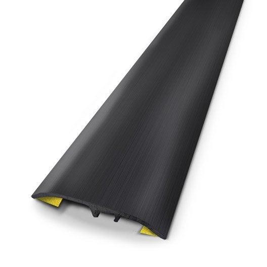 Barre de seuil aluminium anodis noir x l 3 7 cm for Barre de seuil rattrapage de niveau carrelage