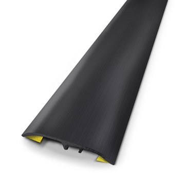 Barre de seuil aluminium anodisé noir L.83 x l.3.7 cm