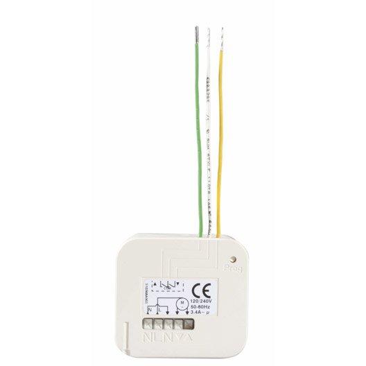 Micro r cepteur pour volet roulant somfy 2401162 leroy - Interrupteur design pas cher ...