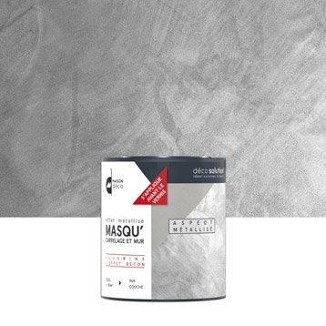 R sine d corative multisupports peinture cuisine et bain for Carrelage gris metallise