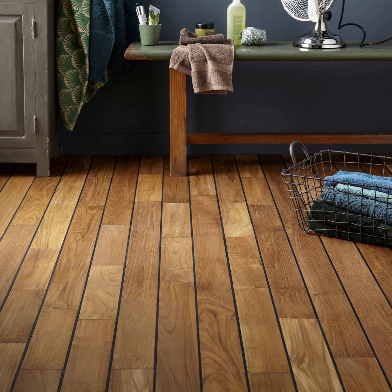 parquet massif teck pont de bateau huil s solid leroy merlin. Black Bedroom Furniture Sets. Home Design Ideas