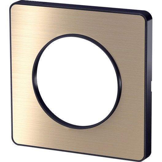 plaque simple odace schneider electric bronze leroy merlin. Black Bedroom Furniture Sets. Home Design Ideas