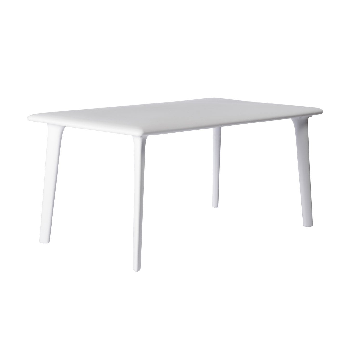 table de jardin dessa rectangulaire blanc 6 personnes. Black Bedroom Furniture Sets. Home Design Ideas