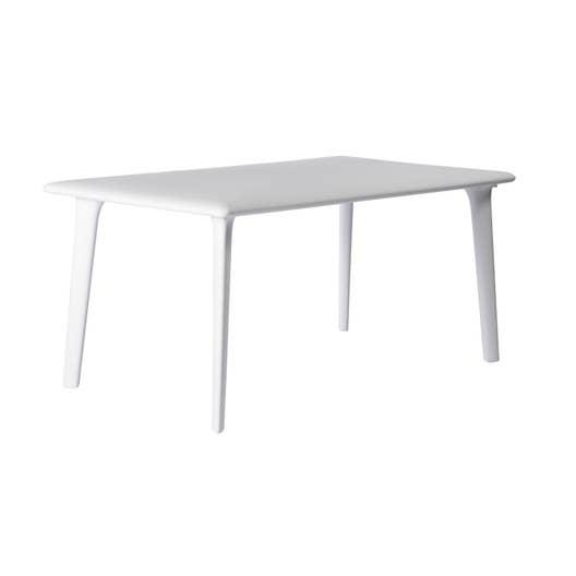 table de jardin dessa rectangulaire blanc 6 personnes. Black Bedroom Furniture Sets. Home Design Ideas