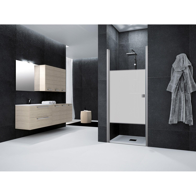 porte de douche pivotante 85 cm s rigraphi neo leroy merlin. Black Bedroom Furniture Sets. Home Design Ideas