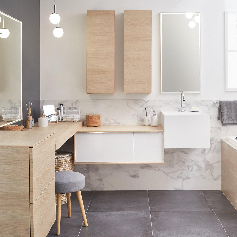 Salle De Bain Avec Bois donner un style contemporain à votre salle de bain avec un
