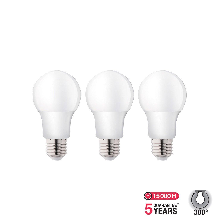 Standards 3 E27 Ampoules Lot Led De 5w806lméquiv 300° 7 60w4000k Lexman 0nwOPk
