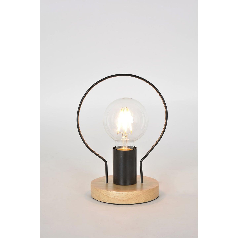 Lampe industriel métal noir & naturel, COREP Kera