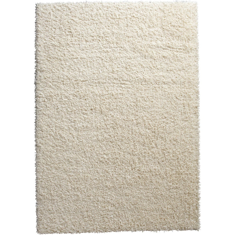Tapis Blanc Shaggy Cubic L 160 X L 230 Cm Leroy Merlin