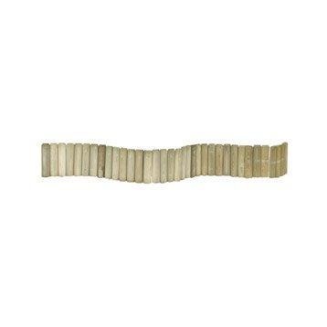 Bordure à planter 1/2 rondin bois naturel, H.20 x L.180 cm