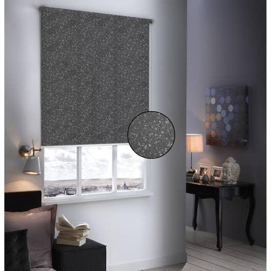 Store enrouleur occultant Paillettes, gris pailleté, 104x190 cm ...
