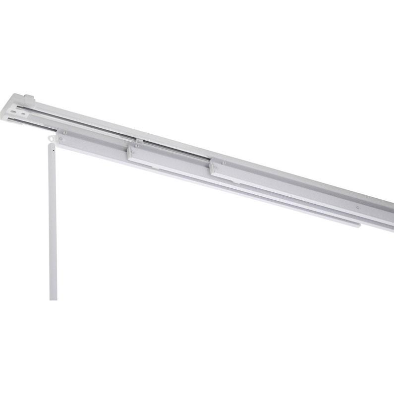 Rail Fixe Pour Panneau Japonais Aluminium Blanc L140 Cm