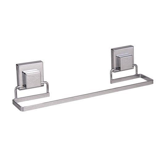 Porte serviettes acier 1 barre fixe smart lock leroy merlin - Barre acier leroy merlin ...