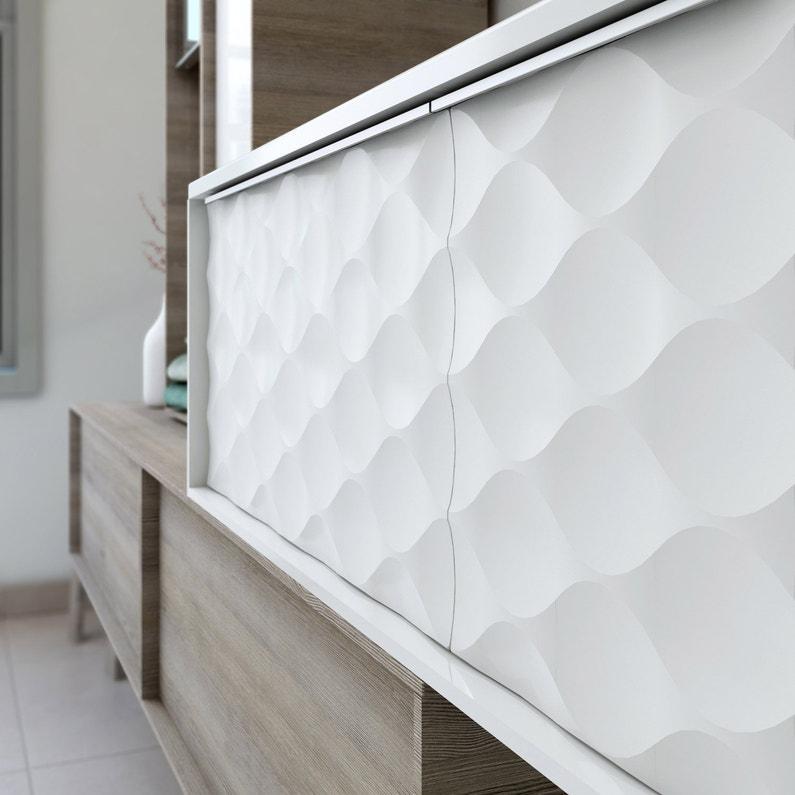 Meuble De Salle De Bains L 105 X H 32 X P 48 Cm Blanc Neo Frame