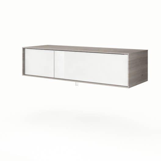 Meuble sous vasque x x cm neo frame - Meuble salle de bain 135 cm ...