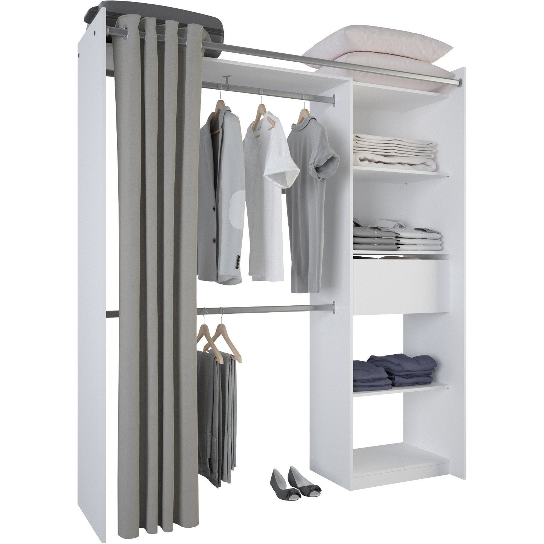 kit dressing blanc new star x x. Black Bedroom Furniture Sets. Home Design Ideas