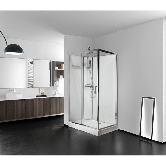 Cabine de douche salle de bains au meilleur prix leroy - Cabine de douche 120x90 ...