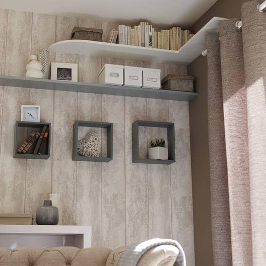 etag re 3 cubes gris x cm mm leroy merlin. Black Bedroom Furniture Sets. Home Design Ideas