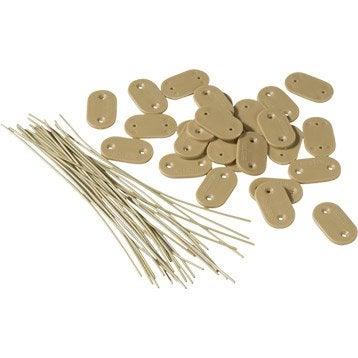 28 fixation pour canisse plastique ou bambou NATERIAL Fixcane