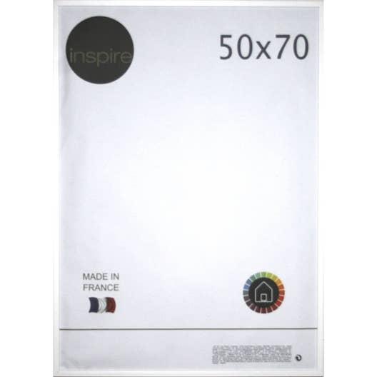 cadre kawa 50 x 70 cm blanc blanc n 0 leroy merlin. Black Bedroom Furniture Sets. Home Design Ideas