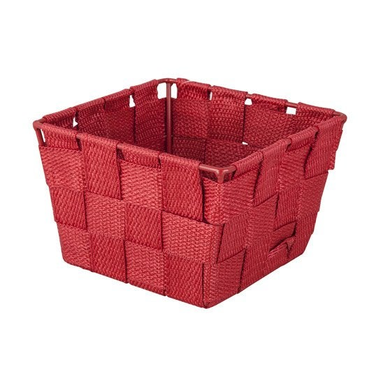 panier en plastique rouge rouge 3 basket leroy merlin. Black Bedroom Furniture Sets. Home Design Ideas