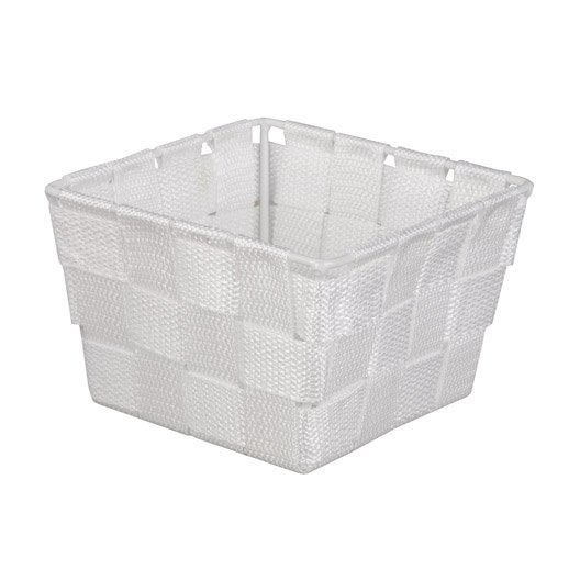 panier en plastique blanc blanc 0 basket leroy merlin. Black Bedroom Furniture Sets. Home Design Ideas