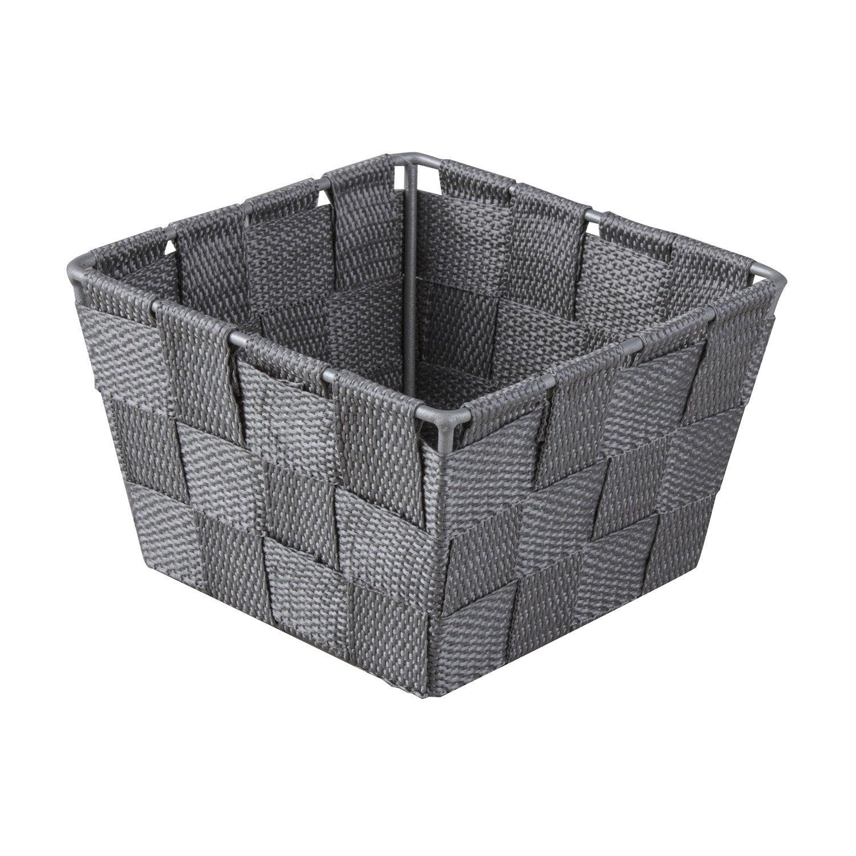 Panier en plastique gris galet 3, Basket