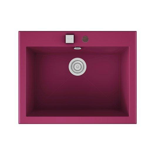 Evier encastrer quartz et r sine violet shira 1 cuve for Evier resine 1 cuve