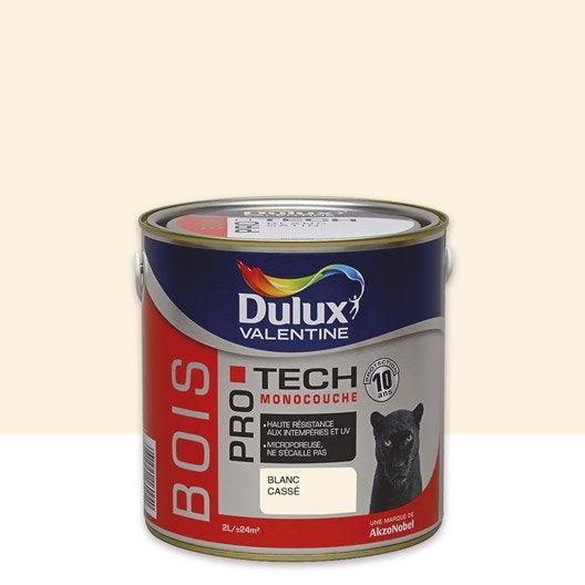 peinture bois ext rieur protech dulux valentine blanc cass 2 5 l leroy merlin. Black Bedroom Furniture Sets. Home Design Ideas