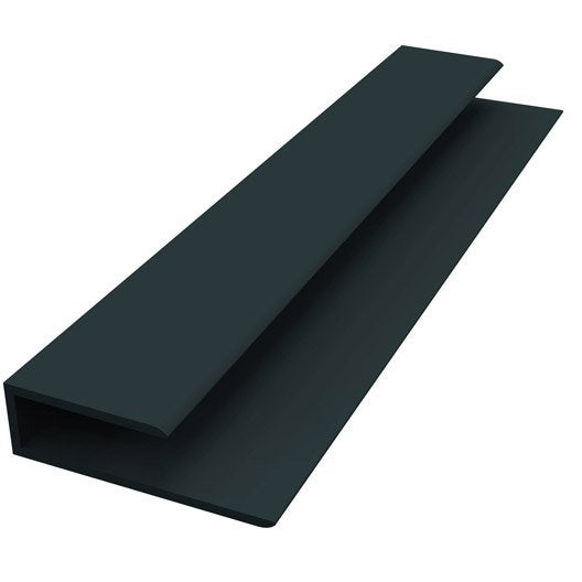 Profil de d part pvc gris anthracite 3 m leroy merlin for Profil pvc fenetre