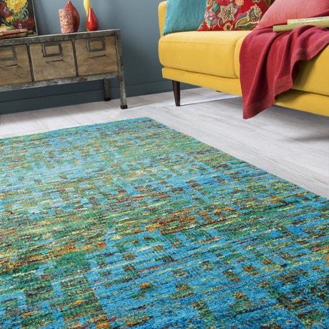Un séjour au tapis coloré