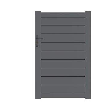 Portillon battant NATERIAL Klos up l.100 x H.156 cm, gris anthracite