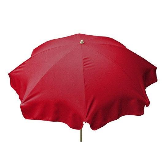 Parasol droit Lola rouge rond, L.240 x l.240 cm