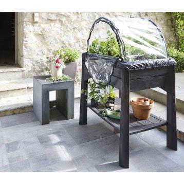 Carr potager et table de rempotage bois acier au meilleur prix leroy merlin for Jardin potager sur pieds