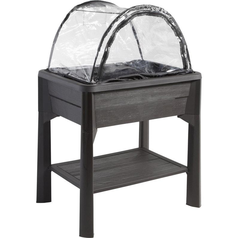 potager sur pieds eda plastiques vegtable gris x. Black Bedroom Furniture Sets. Home Design Ideas