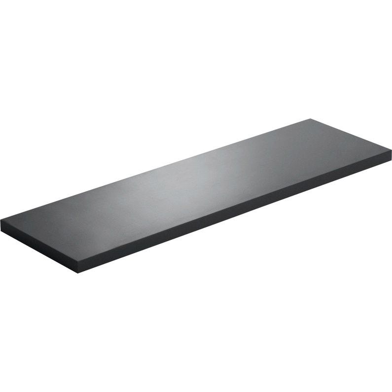Etagère Murale Noir L 80 X P 18 Cm Ep 18 Mm
