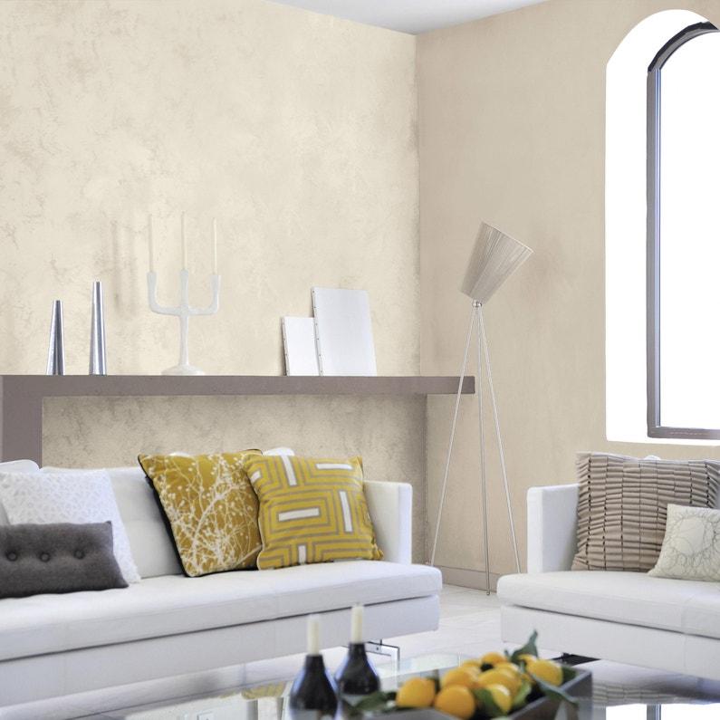 Peinture à Effet Sable Précieux Luxens Blanc Ivoire 6 2 L