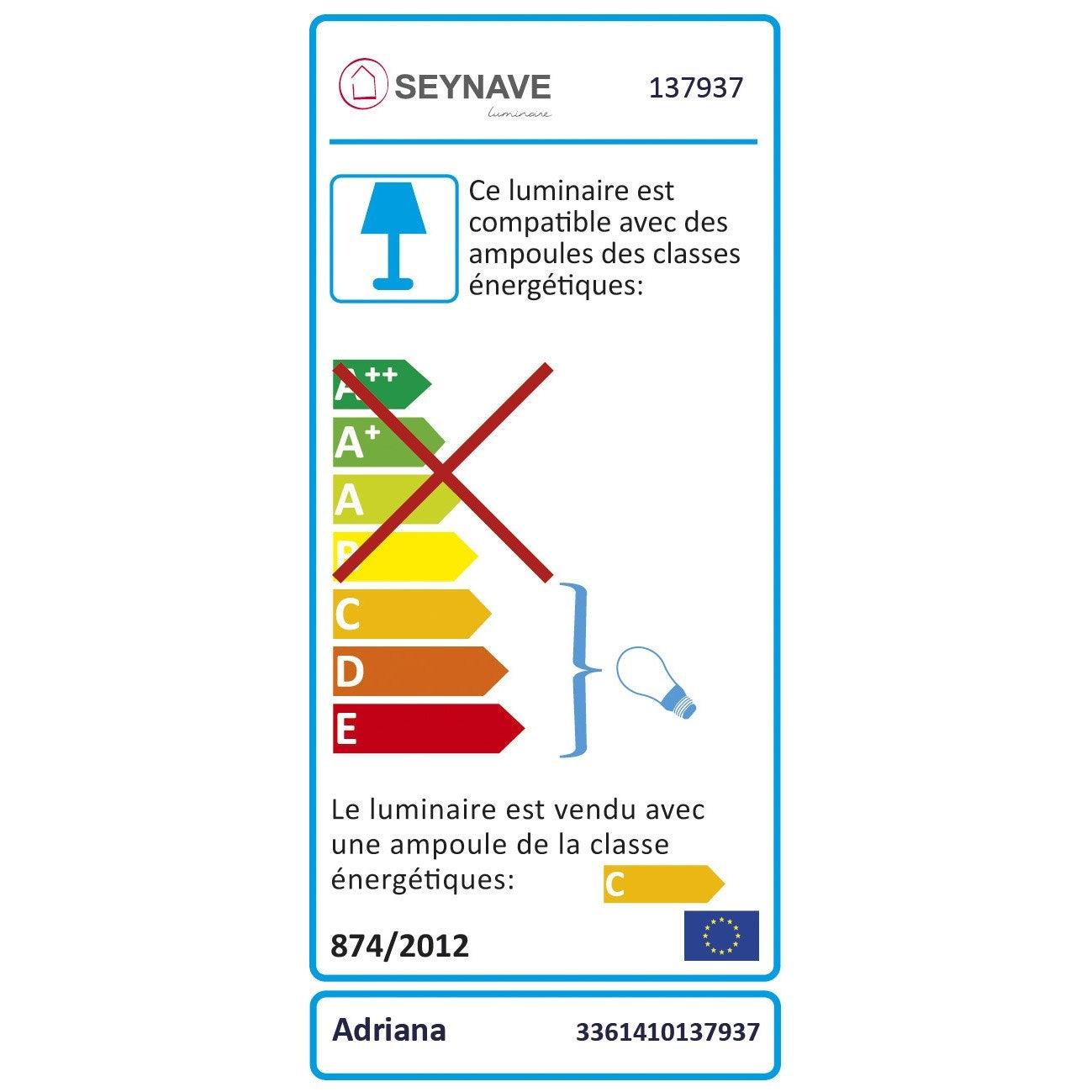 Seynave Adriana Métal G4 AppliqueDesign Chromé2 0Pk8nOwX
