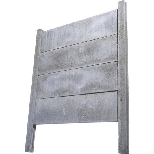 poteau droit pour cl ture en b ton pleine x cm x mm leroy merlin. Black Bedroom Furniture Sets. Home Design Ideas