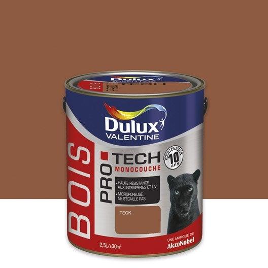 Peinture Bois Extérieur Protech Dulux Valentine, Teck, 2.5 L