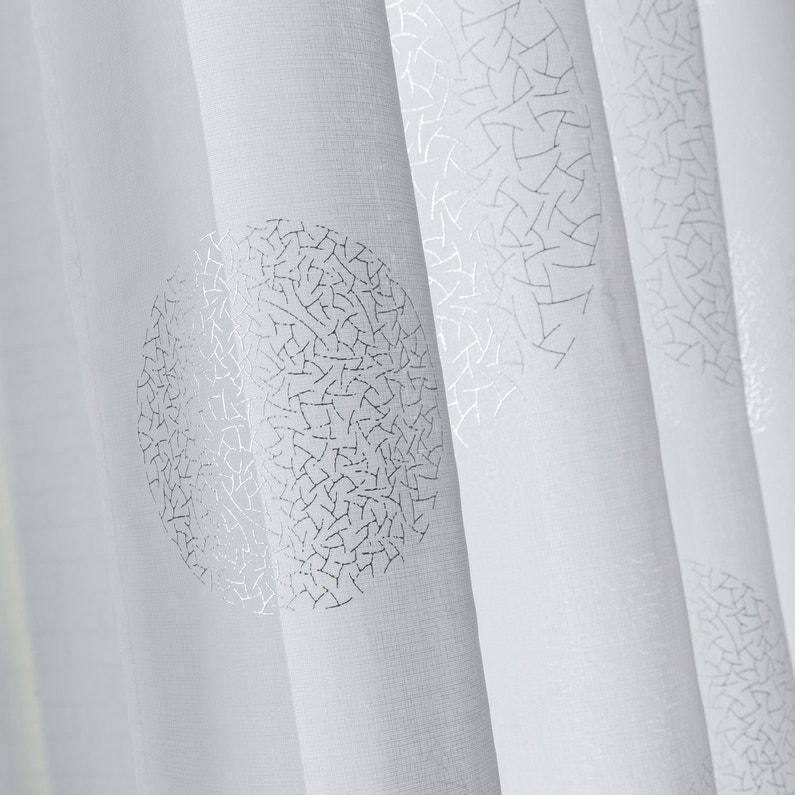 voilage tamisant grande largeur plan te blanc x cm leroy merlin. Black Bedroom Furniture Sets. Home Design Ideas
