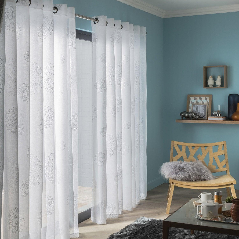 voilage tamisant grande largeur plan te blanc x h. Black Bedroom Furniture Sets. Home Design Ideas