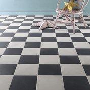 Carrelage sol et mur noir effet ciment Gatsby l.20 x L.20 cm