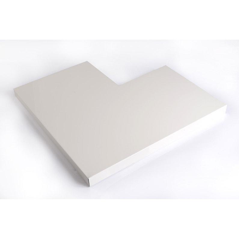 Angle Pour Couvertine Aluminium 500 X 500 Lmc Virano Blanc L05 M