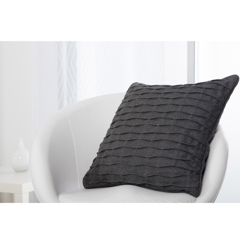 Coussin Fold, gris l.50 x H.50 cm